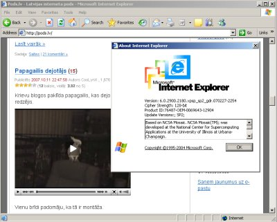 IE6 flash