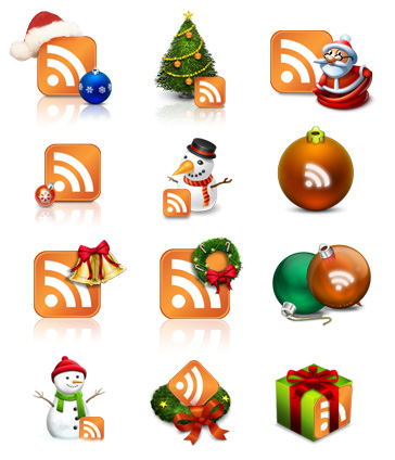 RSS xmas icons