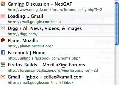 Firefox 3 addressbar