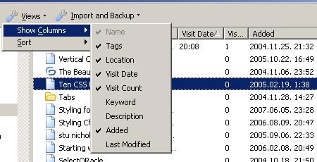 Firefox 3 organize bookmarks