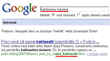 Google - latviešu vārdu locījumi