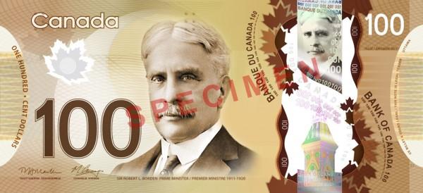 Canada $100 dollars