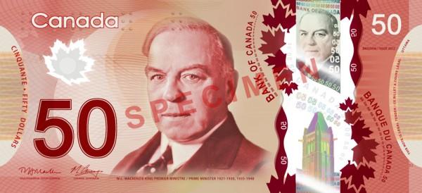 Canada $50 dollars no priekšas