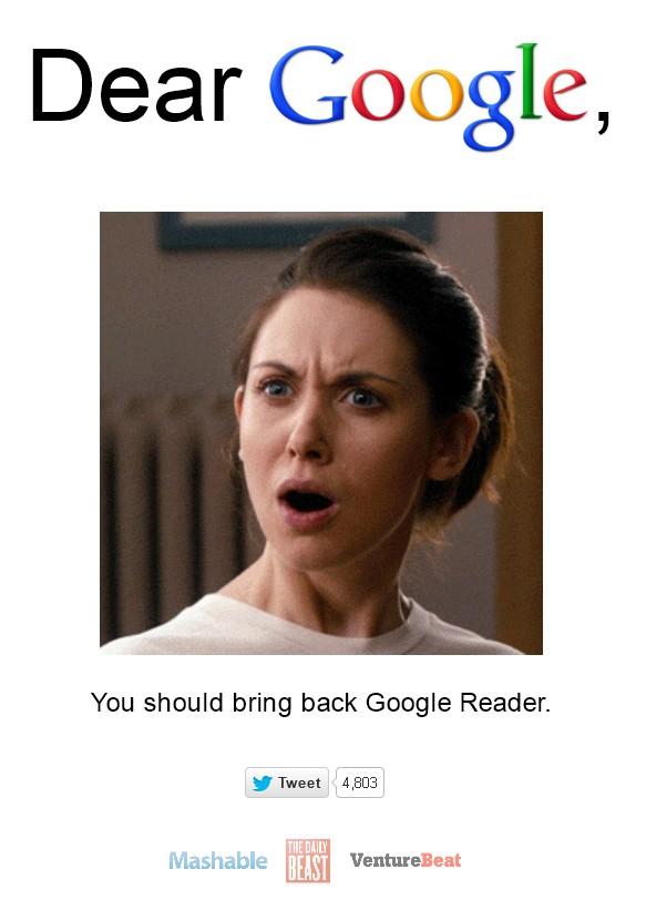 Bring Back Google Reader
