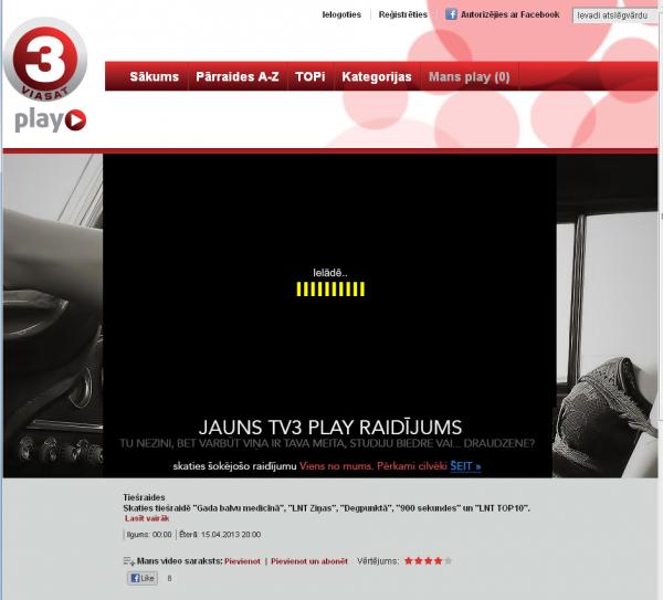 LNT tiešraide TV3Play.lv