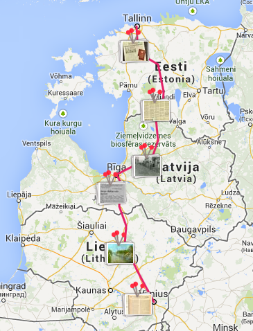 Baltijas ceļa karte