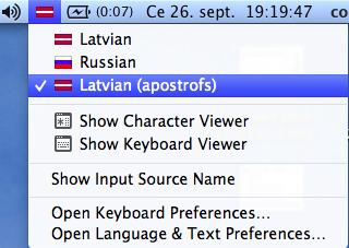 latvian apostrofs