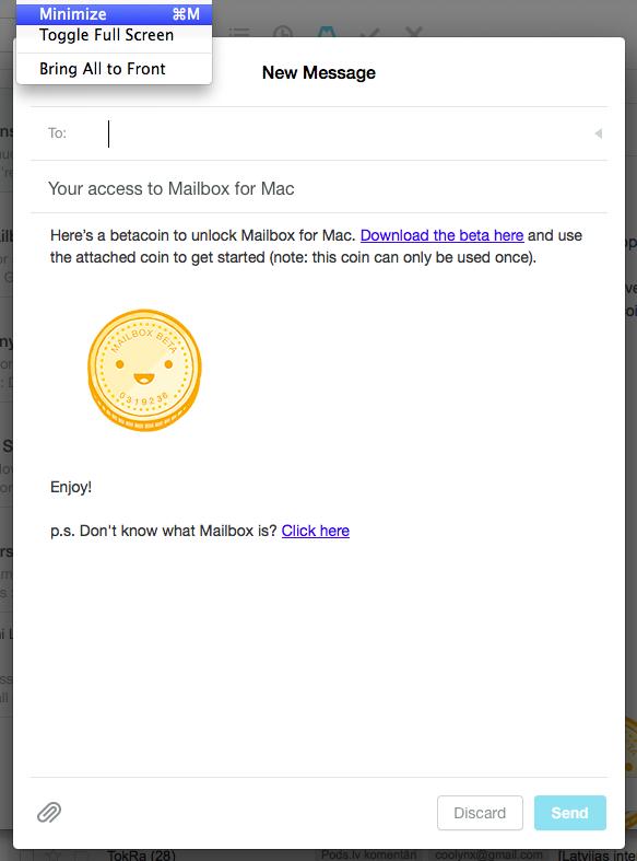 Mailbox send