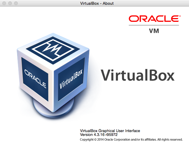 Virtualbox about