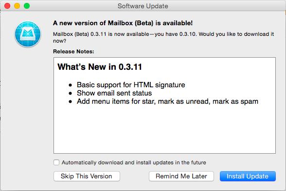 Mailbox 0.3.11