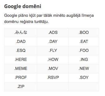 Google domēni