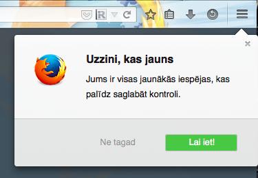 Firefox kas jauns