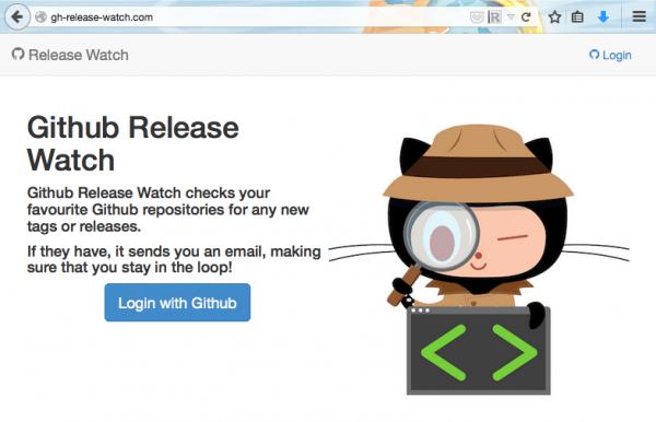 Github release watch