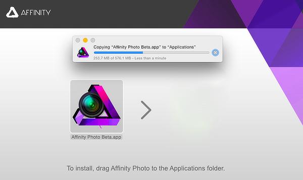 Affinity instalēšana