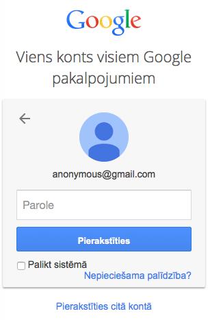 Google anonymous