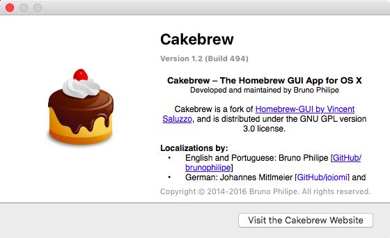 Cakebrew